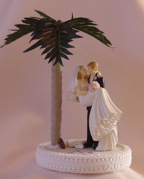 Hawaiian Themed Wedding Cake Toppers Deweddingjpg
