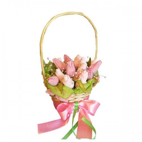 Розовые тюльпаны в сахаре