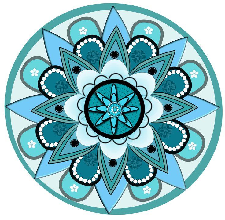 Mandala using inkscape