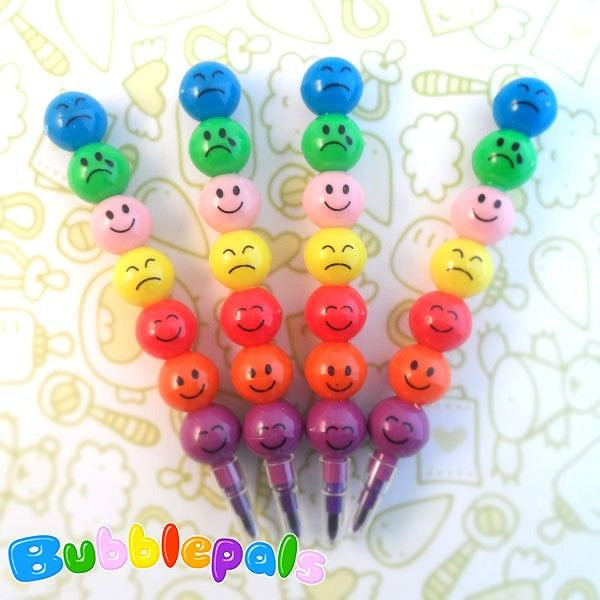 These cute pencils actually are 7 different colored crayons that can be stacked together, sorting the colors as you wish. They'll become the perfect tool to make your day happier!  Find it on www.Delicute.com