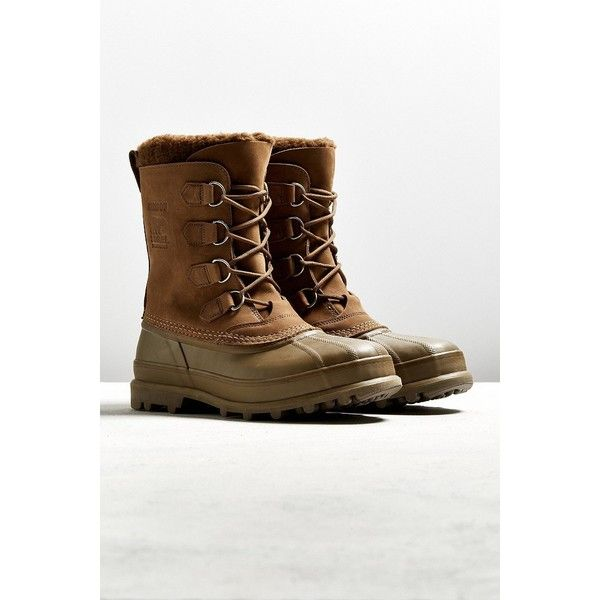 Sorel Caribou Boot ($150) ❤ liked on Polyvore featuring men's fashion, men's shoes, men's boots, mens water proof boots, mens waterproof shoes, mens waterproof boots and mens waterproof snow boots