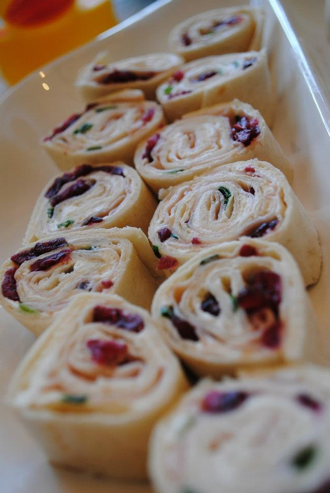 Allen Event Designs: Turkey and Cranberry in Pinwheels - great thanksgiving hors d'oeuvres idea!