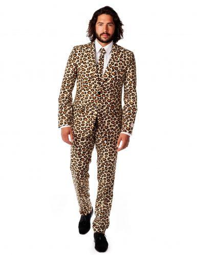 """Costume Mr Giaguaro per uomo Opposuits™: sarai """"pericolosamente"""" affascinante se indosserai questo spettacolare abito The Jag"""" di Opposuits™. Le linee classiche abbinate alla fantasia animalier faranno di te il vero protagonista della...giungla cittadina!"""