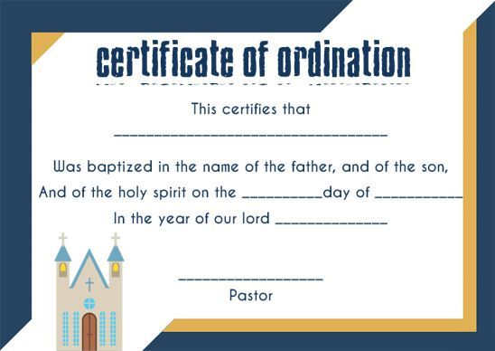 ordination certificate template  14  unique and free