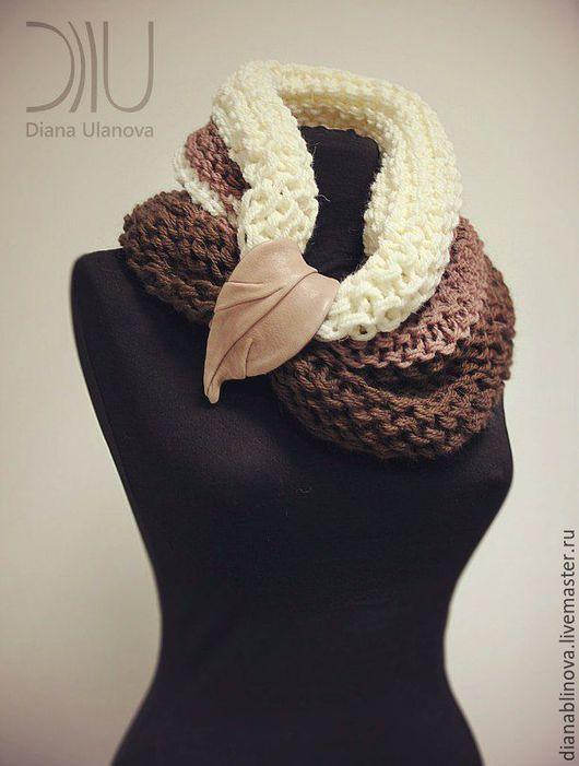Шарфы и шарфики ручной работы. Ярмарка Мастеров - ручная работа. Купить Шарф хомут. Handmade. Комбинированный, натуральная кожа