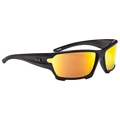 Optic Nerve V12 Sunglasses, Matte Black, Polarized Smoke with Red Zaio Lens by Optic Nerve. Optic Nerve V12 Sunglasses, Matte Black, Polarized Smoke with Red Zaio Lens. One Size.
