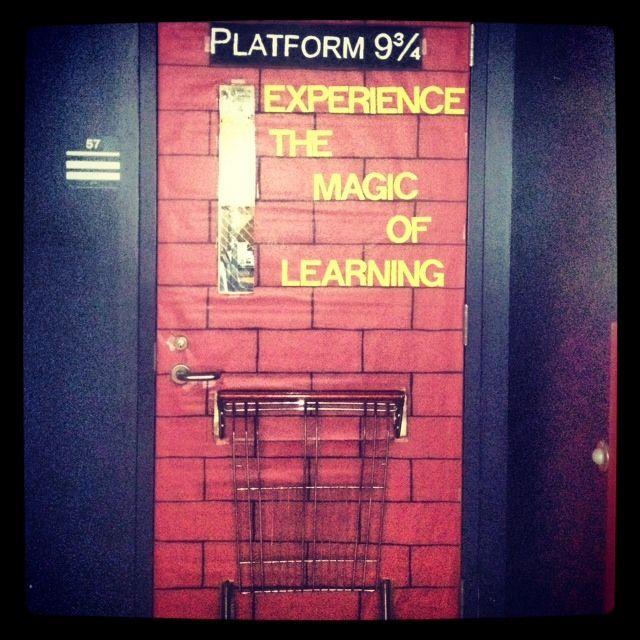 Harry Potter Classroom Decorations ~ Platform classroom door harry potter pinterest