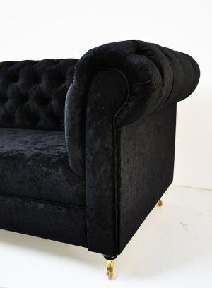 black velvet chesterfield sofa by namedesignstudio on Etsy ...