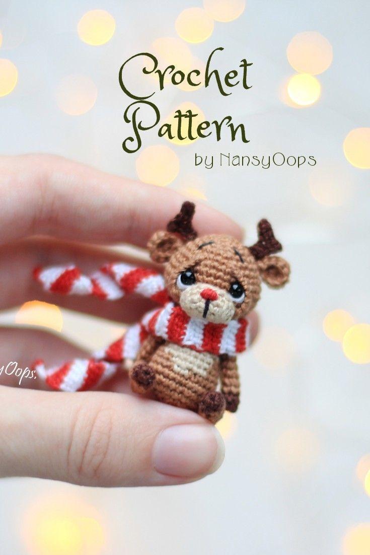 Crochet Rudy The Reindeer Amigurumi Free Pattern | 1102x735