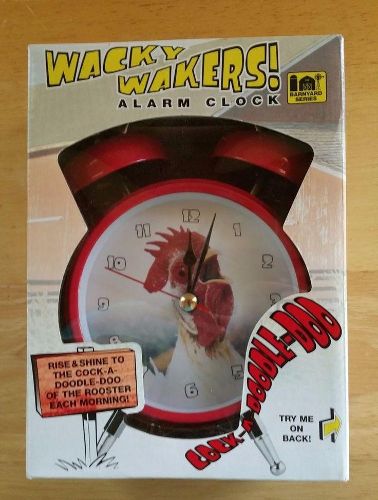 Wacky Wakers Rooster Alarm Clock Cock A Doodle Doo NIB Barnyard Animals  #WackyWakers