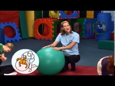 Flying Forward Roll Over Ball | My Gym at Home | BabyFirst TV