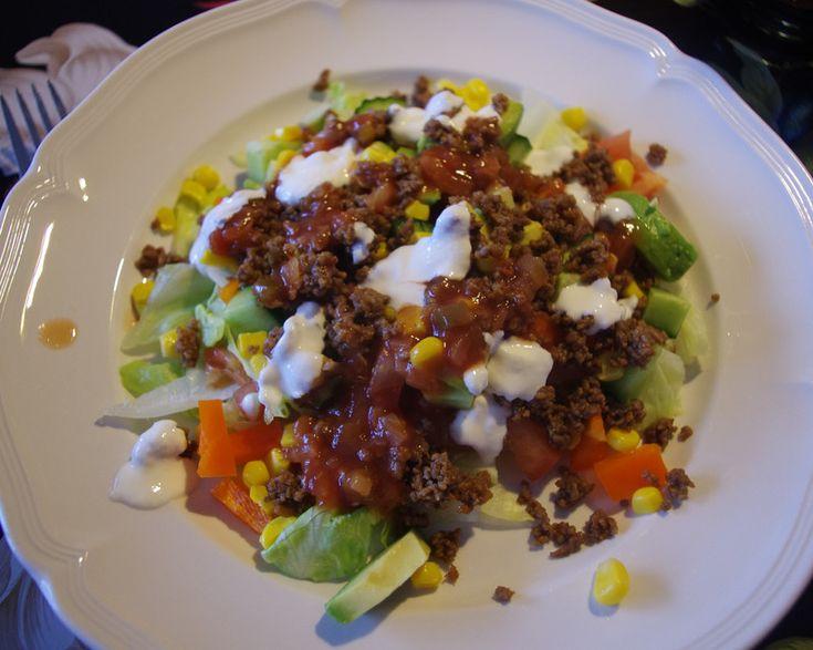 vegetarsik tacosallad (byt kättfärs till quornfärs)