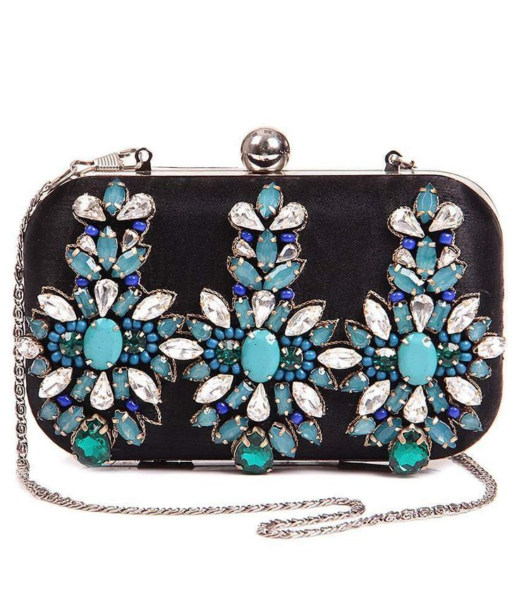 5 elements clutch with assorted stone embroidery, http://www.snapdeal.com/product/5-elements-clutch-with-assorted/111889266