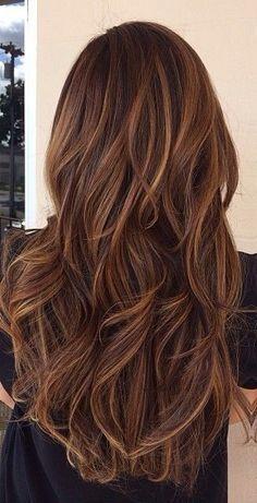 cabello castaño con reflejos y sombras - Búsqueda de Google: