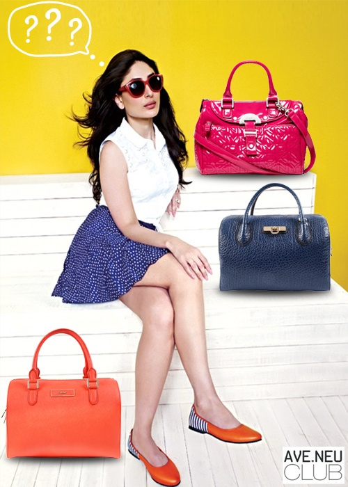 Can you help Kareena in choosing the most suitable DKNY bag for her babelicious look?