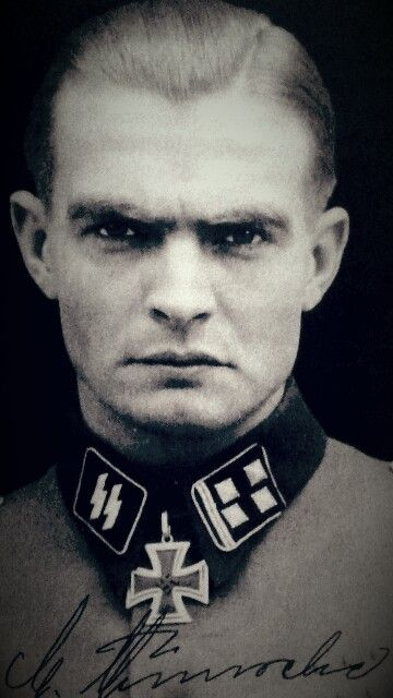 "✠ Max Wünsche (20 April 1914 — 17 April 1995) RK 28.02.1943 SS-Sturmbannführer Kdr I./SS-Pz.Rgt ""LSSAH"" [548. EL] 11.08.1944 SS-Obersturmbannführer Kdr SS-Pz.Rgt 12 12. SS-Panzer-Division ""Hitlerjugend"""