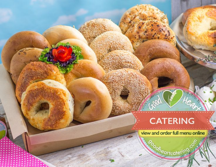 Brooklyn Bagel bakery bagels! say that three times. LA's venerable Brooklyn bagels supplies  our jumbo  and flavourful bagels. Try one for your next meeting. They are delicious. https://goodheartcatering.com/shop/product/brooklyn-bagel-platter-35?category=3