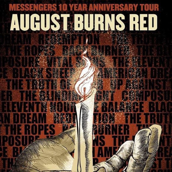 AUGUST BURNS RED And PROTEST THE HERO Team Up For Messengers 10-Year Anniversary Tour