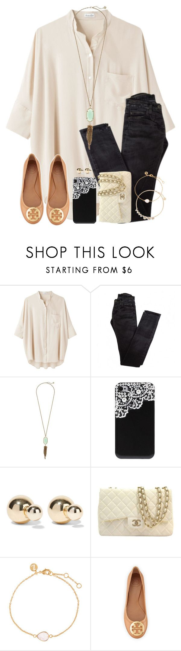 """No School Again Today, But Then There's Tomorrow...😒😕"" by twaayy ❤ liked on Polyvore featuring Steven Alan, Rick Owens, Kendra Scott, Kenneth Jay Lane, Chanel, Accessorize, Tory Burch and Anton Heunis"