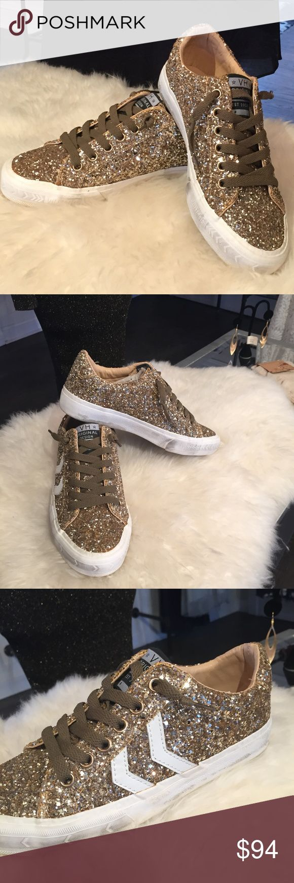 Vintage Havana Gold Sparkle Sneakers Brand New Gold Sparkle Extra Laces Included Vintage Havana Shoes Sneakers