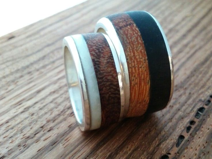 Trouwringen. Combinatie: os de buffle (wit) of hoorn (zwart) - serpenthout - zilver 925 / by  lareine