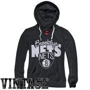 Mitchell & Ness Brooklyn Nets Ladies Vintage Pullover Hoodie - Black