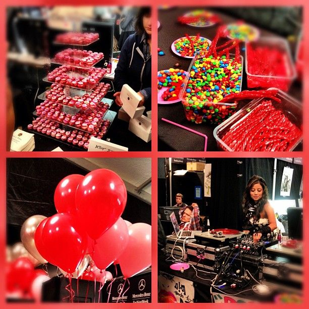 THIS is why we love Betsey Johnson!!! Who else has mounds of candy, balloons and a DJ backstage!? #NYFW: Balloon