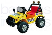 12V Jeep Styled Ride On Car - Yellow