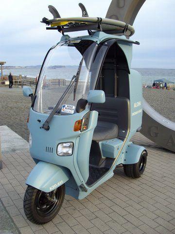 画像 : 雨に濡れない3輪バイク。 【原付】ジャイロキャノピーがかっこ良すぎる・・・ - NAVER まとめ