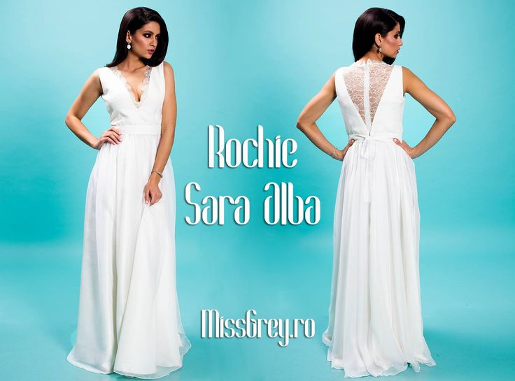 White long evening dress with lace and triple veil, perfect for spectacular appearances at special events: https://missgrey.ro/ro/produse-noi/rochie-sara-alba/310?utm_campaign=colectie_aprilie&utm_medium=rochiesara_alba&utm_source=pinterest_produs