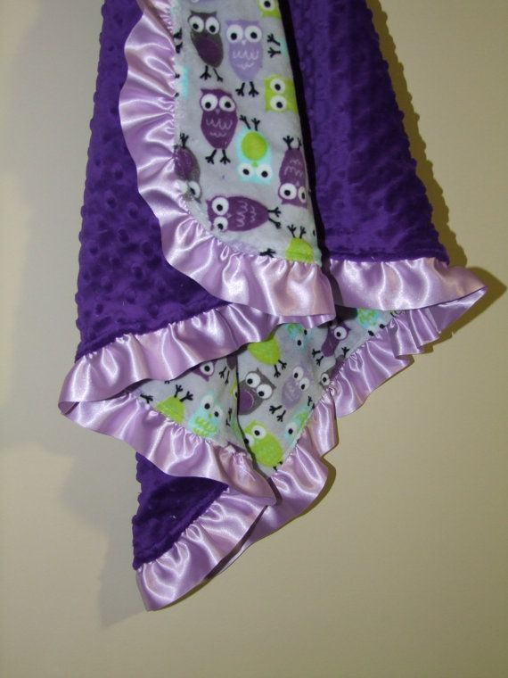 Hey, I found this really awesome Etsy listing at http://www.etsy.com/listing/98977951/purple-owl-minky-blanket-with-purple