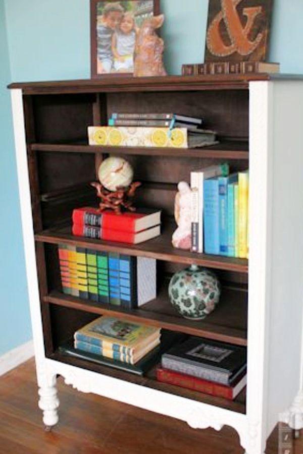 Dresser Without Drawers Diy Bookshelf