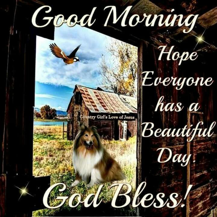Good Morning, Hope Everyone Has A Beautiful Day, God Bless!