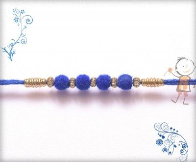 Online #Rakhi #Shopping 2015:- Buy Rakhi, #Velvet #Rakhi Delivery In #India #USA #UK #Australia #Canada #Dubai #Singapore #NZ Royal Blue Velvet Rakhi, surprise your loved ones with roli chawal, chocolates and a greeting card as it is also a part of our package and that too without any extra charges.  http://www.bablarakhi.com/send-designer-rakhi-online/1118-send-royal-blue-velvet-rakhi-online.html