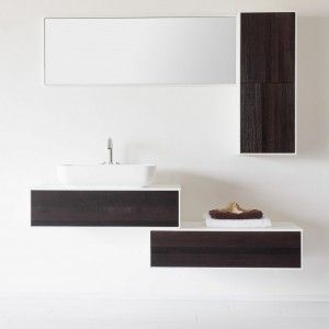 ▮▯ MODERN BATHROOM Natural wengé WOOD FLOOR White oak without knods  #blackandwhite #bw #wood #contrast #bathroom #perfect #modular #modernbathroom #handmade #madeinitaly #dezottidesign