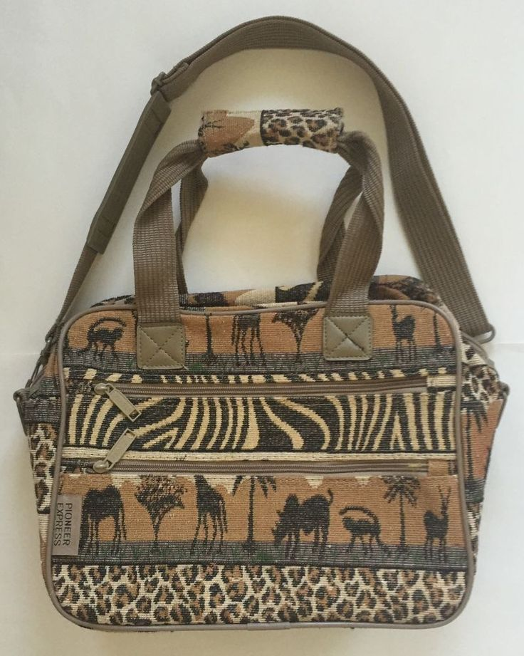 Pioneer Express Tapestry Safari Small Carry On Luggage Bag Animal Print Tote #PioneerExpress