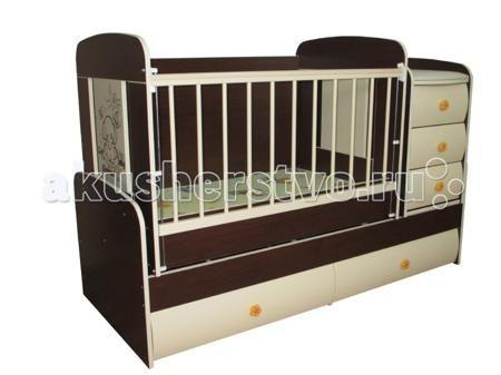 Glamvers Multy Vip  — 11400р. ----------------------------------  Кроватка-трансформер Glamvers Multy Vip  Кроватка трансформируется в подростковую кровать (размер 1600х650)+стол+комод.  Особенности: кровать-трасформер 3 в 1,материал ЛДСП+МДФ+бук в комплект входит - ортопедический матрас + пеленальный столик маятниковый механизм качания решетка опускается 2 положения.  ПВХ накладки  два уровня положения ложа возможность установить комод как лева так и справа кровать для подростка до 12 лет…