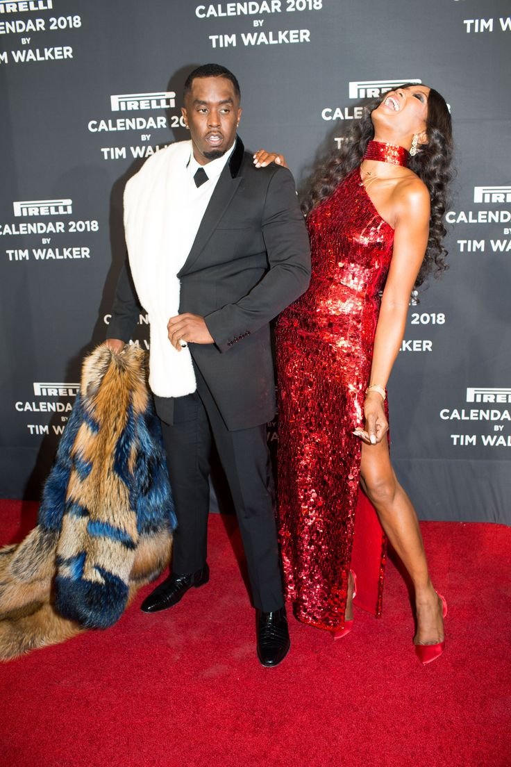 Sean Combs and Naomi Campbell. Inside The Pirelli Gala
