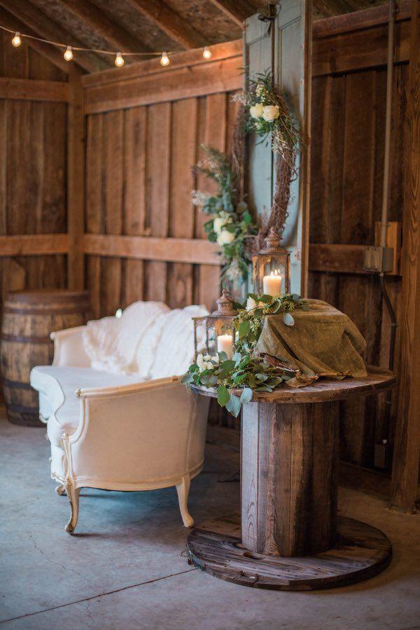 barn wedding venues twin cities%0A Indiana Wedding  Ethereal Barn Inspiration Shoot