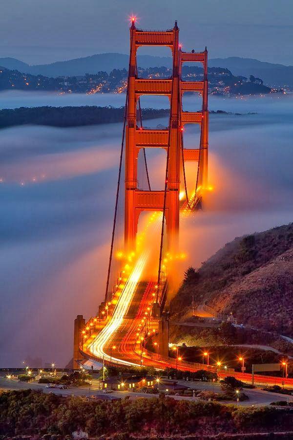 Ponte Golden Gate em São Francisco no Estados Unidos