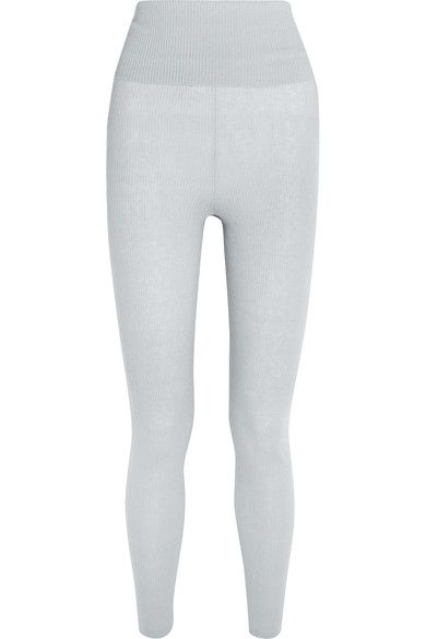 Eres - Futile Tentation Ribbed-knit Cashmere Leggings - Gray - 2