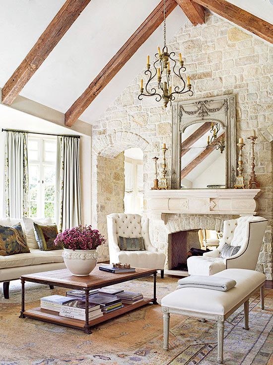 Fireplace styles and design ideas french country living roomfrench country wall decorfrench