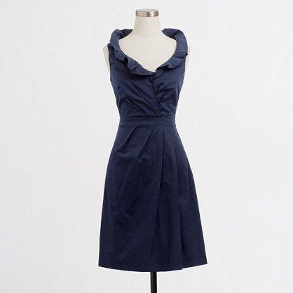 J.Crew cotton ruffle dress= LOVE