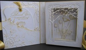 mock book card  useing  memory box cutting dies