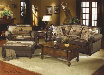 Pine Creek Collection; Deer, Cabin Sofa, Chair U0026 1/2, Jumbo