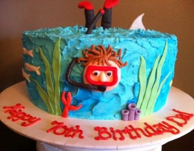 Scuba Diving Cake By MelaMang75 on CakeCentral.com