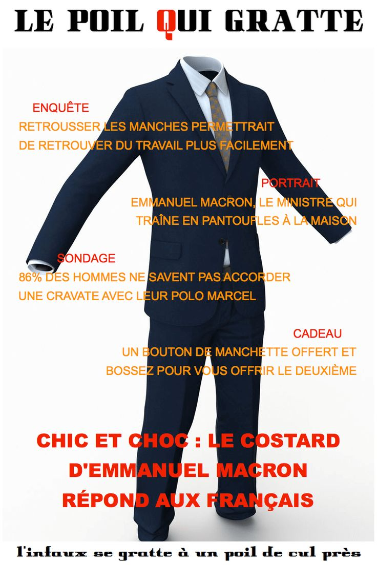 [LPQG Niouzes] Chic et choc: Le costard dEmmanuel Macron répond aux Français
