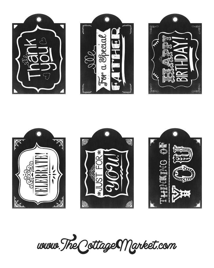 Chalkboard Printable Tags