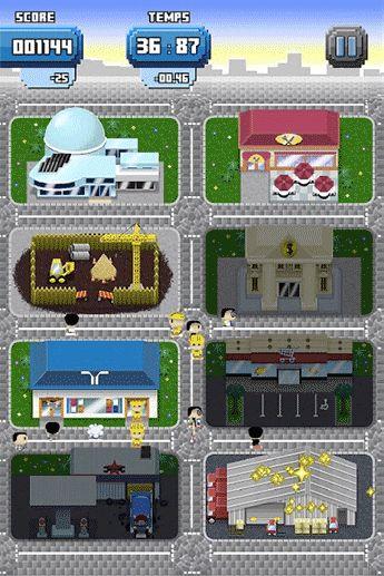 """Ville entière du jeu mobile Randstad """"Tiny Workers"""""""