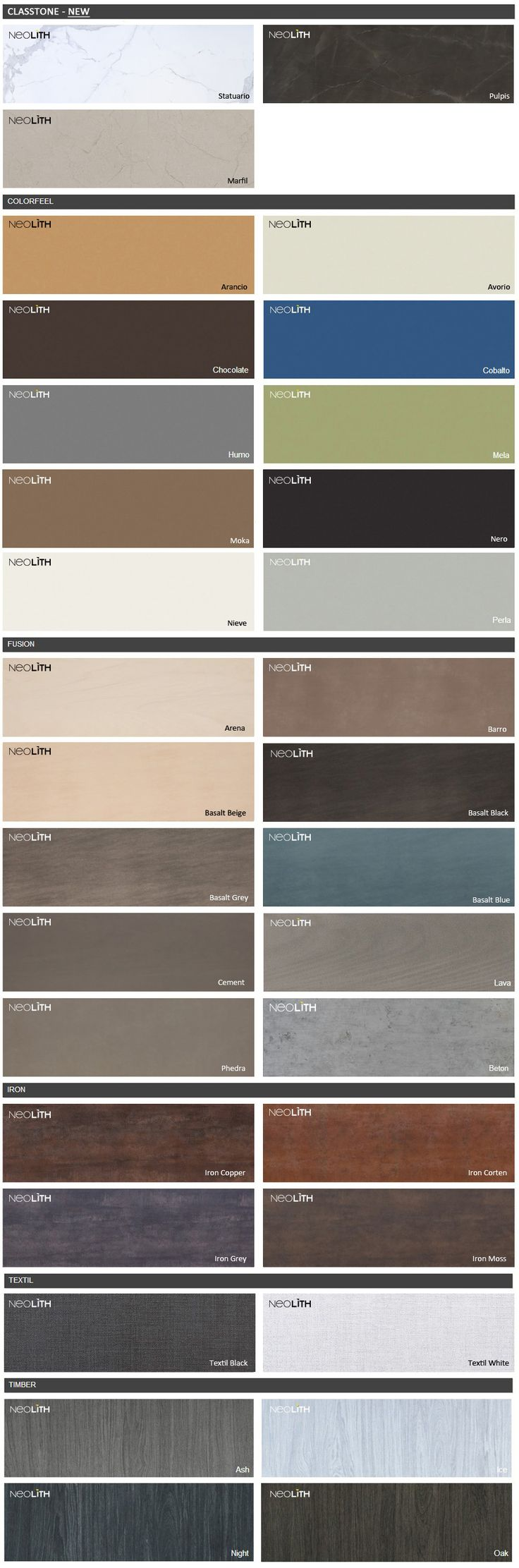 Neolith Colors With In Stock Tags 6 28 14 Countertops